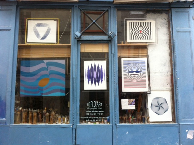 L'atelier de sérigraphie de Nikolas Serdar