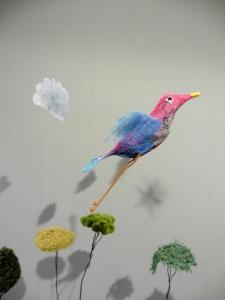 Oiseau bleu roseW